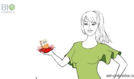 Анимационный рекламный ролик для TV косметической линии BioFormula компании Nicole Laboratory, кадр 2